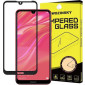 Wozinsky Tempered Glass Full Glue Full Coveraged with Frame Case Friendly for Huawei Y6 2019 / Y6 Pro 2019 black